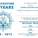 Golden Jubilee of Sea Scout Troop